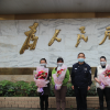 广西水口关出入境边防检查站组织活动向全体女民(辅)警送祝福