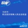 习近平:依法更好保障人民合法权益
